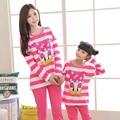 Рождество пижамы семья мама и я одежда семья посмотрите соответствующие пижамы персонаж Дональд Дак мягкий хлопок семья clothing set