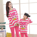 Christmas pajamas family mommy and me clothes family look matching pajamas character Donald Duck soft cotton family clothing set