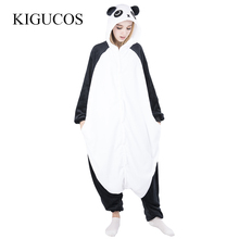 1a9d4399dc5a KIGUCOS Winter Warm Sleepwear for Women Cartoon Hooded One Piece Costumes Panda  Onesies