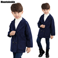 2016 meninos de inverno casacos de lã grossa jaqueta nova moda para 4-12y crianças clothing crianças outerwears double breasted coréia sc695