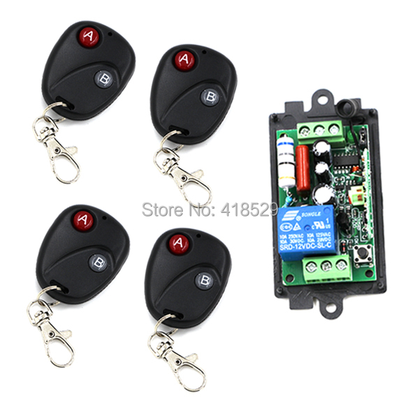 Home Wireless RF Switch Remote Control,AC110V  220V 1 CH 1CH Switch System,315/433 MHZ Transmitter And Receiver SKU: 5069 smart system remote control switch ac 220v 1ch rf wireless 3 transmitter with two button receiver switch 2260 2262 sku 5065