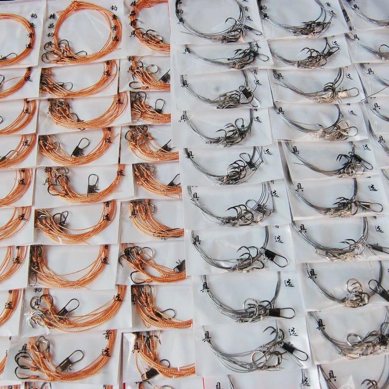 Has Tied Best Anti-bite anti-winding steel wire string hook and PE line tie line fishing hook Iseni hook