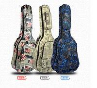 40'' Ukulele Instrument Bags Ukelele Bag With Double Shoulder Strap Bag Canvas Guitar Bags & Cases National Wind
