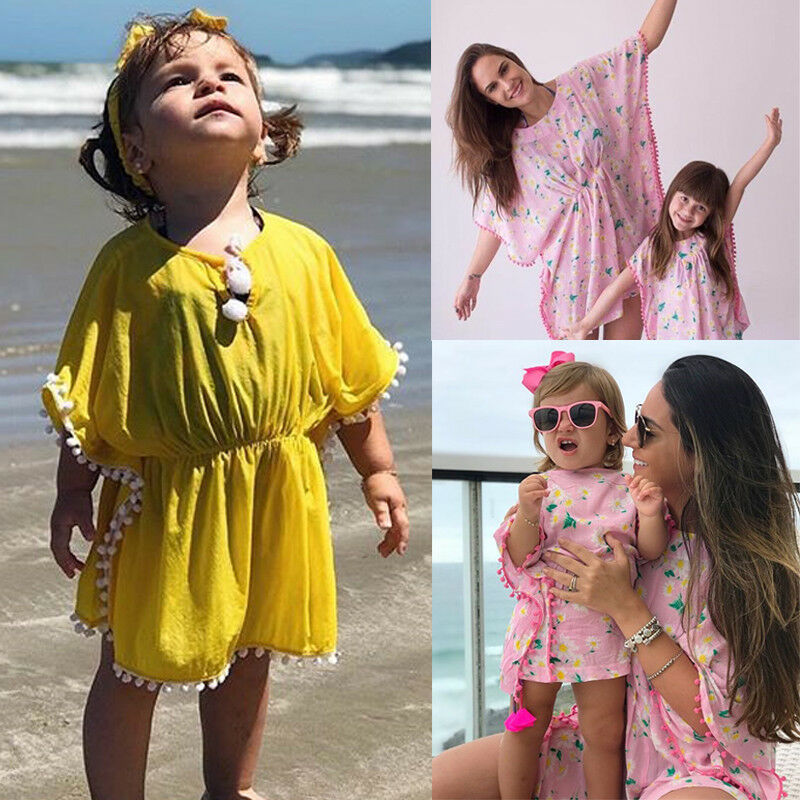 Bathing-Suit Bikini Beachwear Sundress Flower Cover-Up Baby-Girl Cute Toddler Kids