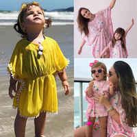 Cute Kids Baby Girl Toddler Beach Dress Swimming Sundress Bikini Cover Up Flower Bikini Bathing Suit Beachwear Swimsuit