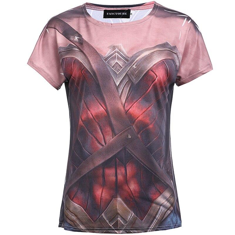 Новое поступление Летняя футболка Wonder Woman фильм футболки Модные принты сексуальные топы с короткими рукавами Модная рубашка