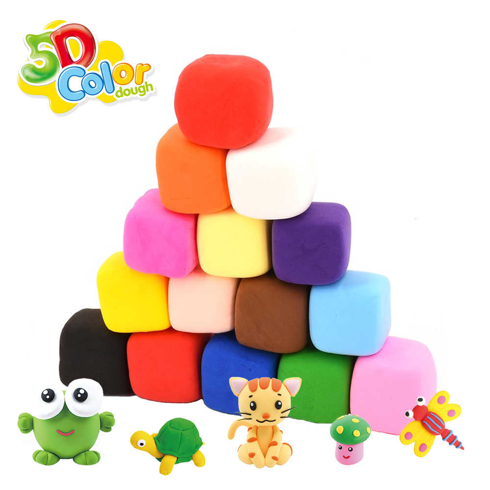 1 Pcs 5D Color DIY Fluffy Clay kids Supplies Soft Slime Colorful Cotton Modeling Clay Plasticine Antistress Toys for children