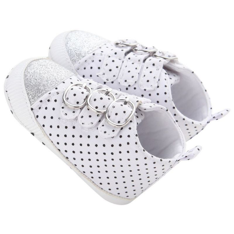 Baby Boy First Walkers New Spring Autumn Canvas Infant Toddler Kids Polka Dots Sports Sneaker High Top Shoes 0-18M