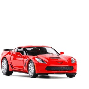 Image 1 - 1/36 C7 Metal Diecast Cars Toy With Pull Back Alloy Car Model Vehicle Miniature For Birthday Kids Toys Gifts