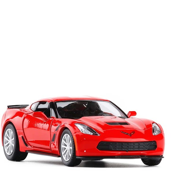 1/36 C7 Metal Diecast Cars Toy With Pull Back Alloy Car Model Vehicle Miniature For Birthday Kids Toys Gifts