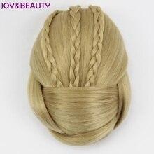 Hair-Bun BEAUTY Donut Chignon Braided Piece Synthetic-Hair Clip-In JOY 6-Colors-Available