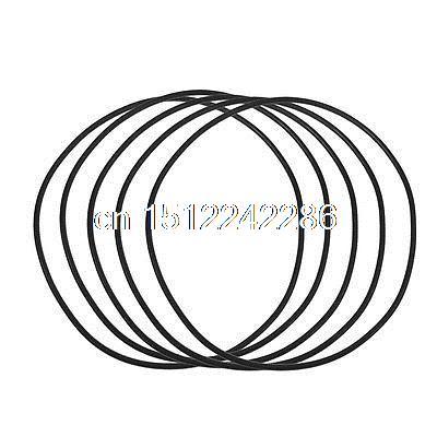 5 Pcs 86mm X 90mm X 2mm Black Rubber Sealing Oil Filter O Rings