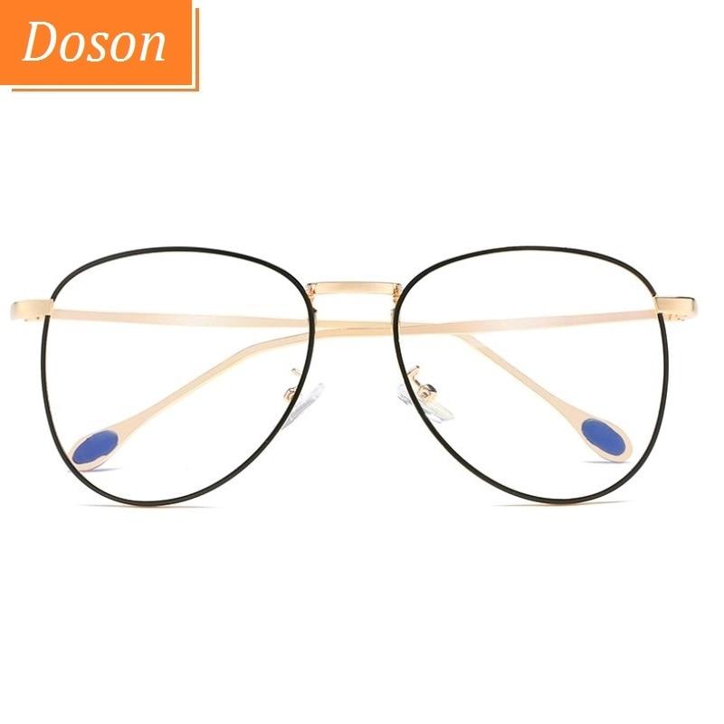 c0ab9a3f7f Classic Clear Glasses Men Women Fashion Optical Eyeglasses Frame Metal  Frames Aviator Eye Glasses Anti Blue-Ray Goggle Eyewear