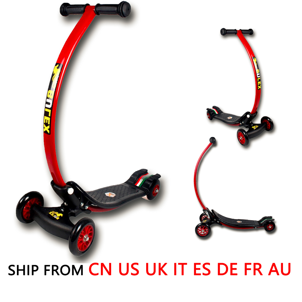Kids Exercise Toys Bending Design 4 Wheel Folding Scooter Skateboard Child Scooter Foldable With Rear Foot Brake Drop Shipping effects of khat catha edulis exercise