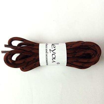 100-160 см спортивные круглые шнурки, 17 цветов, кроссовки, белые шнурки, спортивная обувь, шнурки, спортивная обувь, обувь для скейта, шнурки - Цвет: reddishbrown black