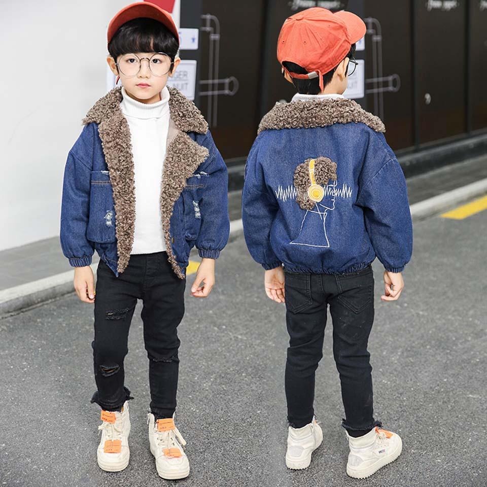 2018 nouveau bébé garçons Denim veste mode chaud manteau d'extérieur printemps automne filles enfants vêtements enfants veste manteau 4-12 ans
