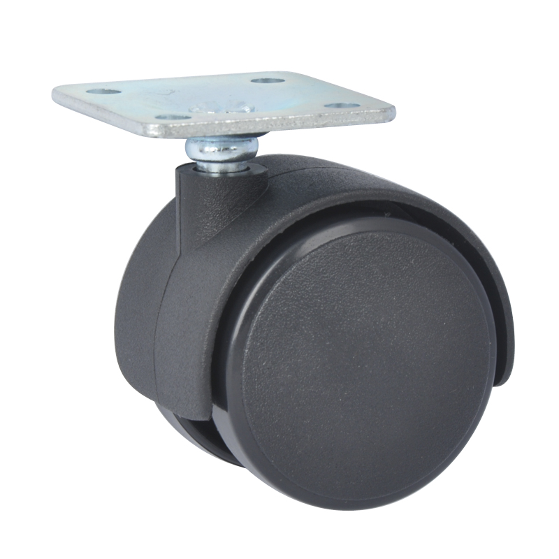 office chair castors 15 inch round cushions 4pcs edl 40mm 20kg pa nylon furniture wheels plate swivel rotation small caster for