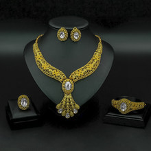 Liffly Fashion Bridal Jewelry Set Women Gifts Dubai Gold Wedding African Beads Jewelry Set Brand Necklace Accessories(China)