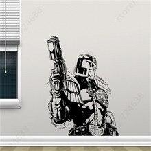 Judge Dredd Wall Vinyl Sticker Retro Movie Poster Decal Superhero Teen Room Club Home Interior Decor