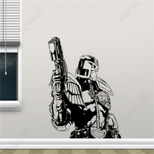 Judge Dredd Wall Vinyl Sticker Retro Movie Poster Decal Superhero Teen Room Club Home Interior Decor Removable Mural