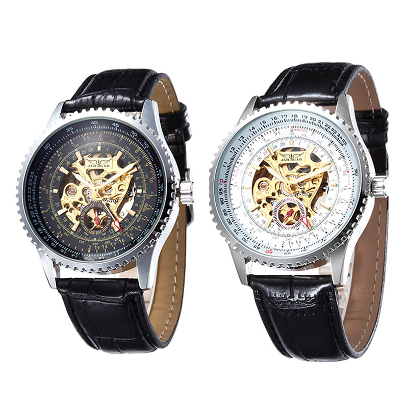 popular self winding watches men buy cheap self winding watches fashion automatic skeleton mechanical self wind men watch for men s vintage analog wristwatch lxh