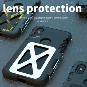 Image 4 - R JUST Paslanmaz Çelik Ağır Kapaklı Flip Kılıfları Apple iPhone X için Açık Dropproof Darbeye Dayanıklı Kapak