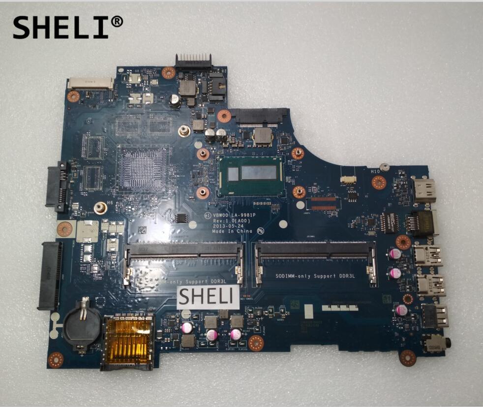 SHELI For Dell 15R 5537 3537 Motherboard with i5-4200u LA-9982P CN-07DHY3 07DHY3 7DHY3SHELI For Dell 15R 5537 3537 Motherboard with i5-4200u LA-9982P CN-07DHY3 07DHY3 7DHY3