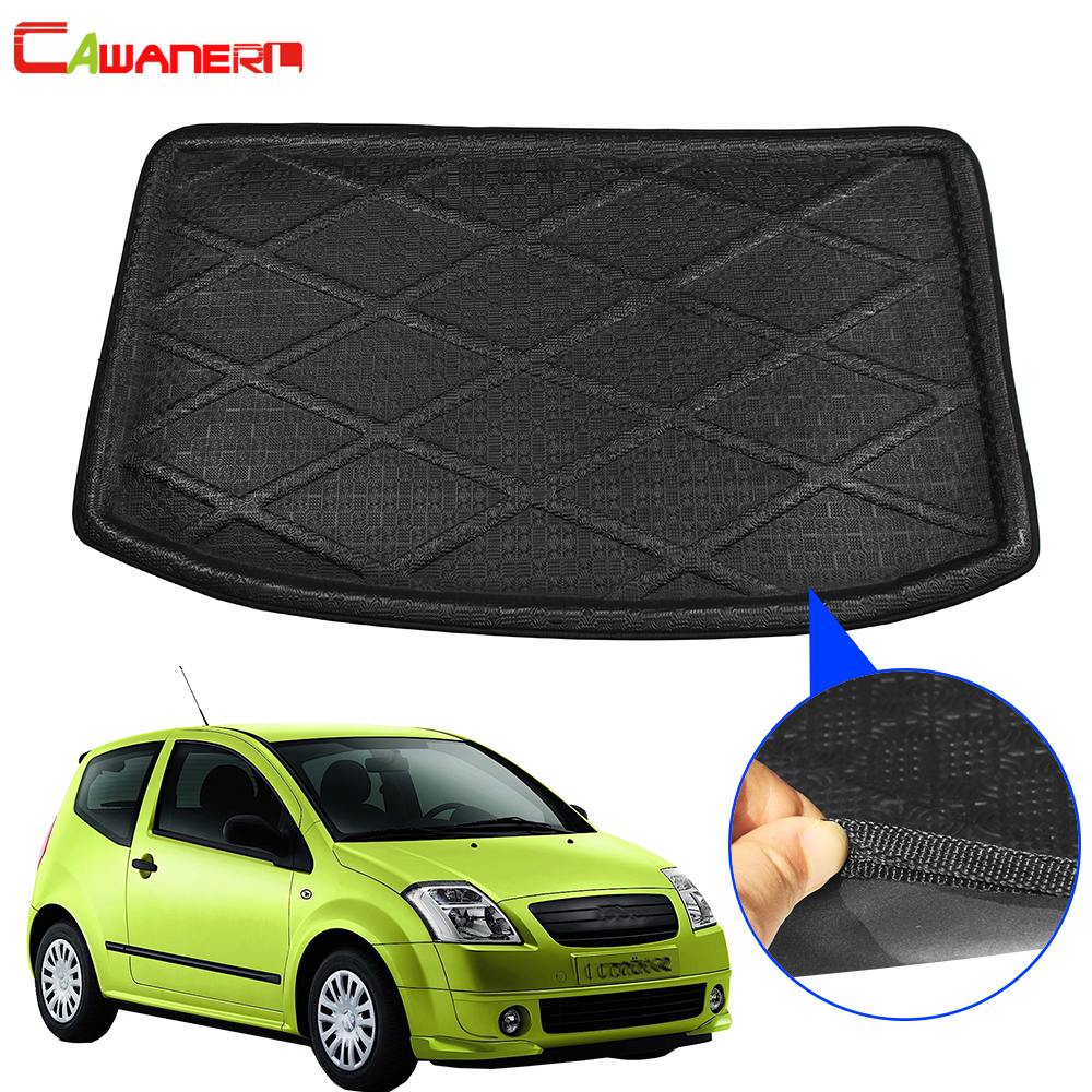 Cawanerl pour citroën C2 tapis de coffre de voiture plateau de démarrage doublure de plancher de bagages coup de pied tapis boue cargaison protecteur Pad accessoires|  -
