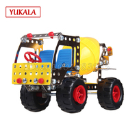 DIY metal toys assembled model of cement car 816B 17 3D three dimensional puzzle alloy assembly blocks car package mail for kids