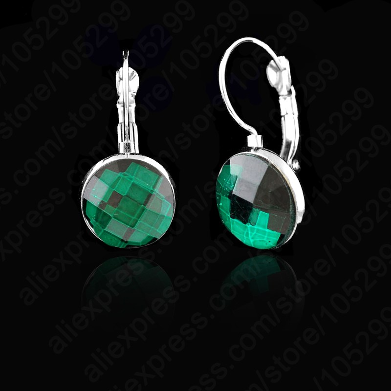 JEXXI Big Promotions!! 1Pair 925 Sterling Silver Elegant Shiny Crystal Lever Back Fine Jewelry Earrings For Woman Wedding Party