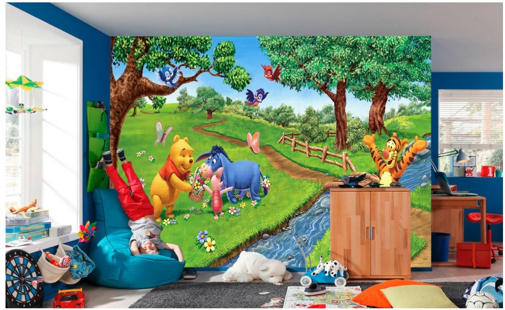 Custom 3d Photo Wallpaper 3d Wall Murals Wallpaper Playground Tigger Bear  Children Room Wall Paper 3d Wallpaper For Living Room
