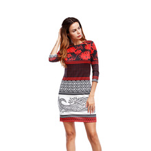New Knitted Dress Party Velvet Robe Sexy Short Beautiful Cheap Dresses Warm Women Tunic Suede Dresses 2018 Autumn Print Dresses
