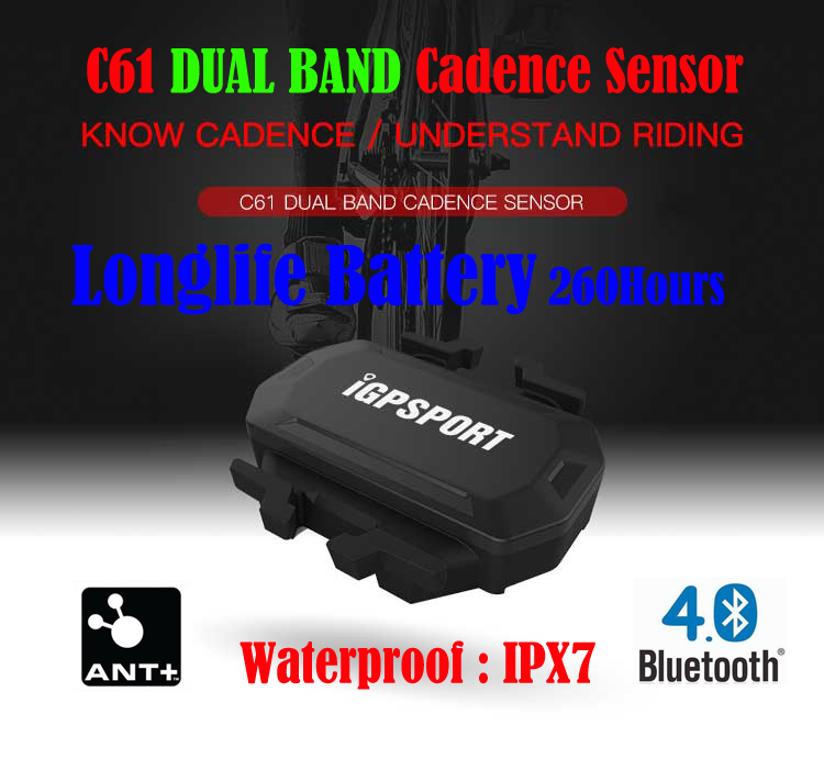 Cadence Sensors iGPSPORT C61 Wireless Ant+ Bluetooth 4.0 Cycling for iGS10 iGS50E Strava Runtastic PRO Wahoo Fitness ...