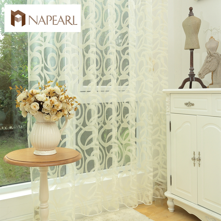 Endless Design White Curtain Tulle