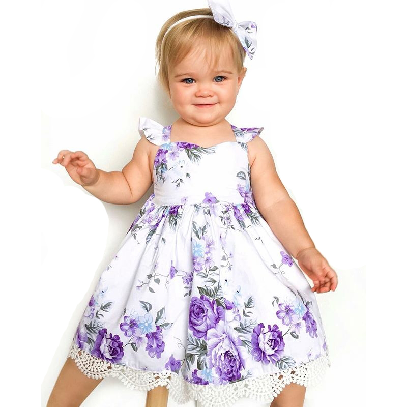 Baby Girl Dress Kids Dresses Girls Unicorn Party Dresses Baby Girl Summer Clothes Children Clothing Floral Princess Dress summer baby girl printed pattern straps dresses toddler girls baby clothing sleeveless baby dress kids casual clothes yp