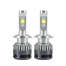 H7 H4 H11 светодиодный лампы для передних фар H8 H9 9005 9006 9012 12000Lm 6500 K 90 W 12 V светодиодный Автомобильные Высокое Яркий налобный светильник Canbus без ошибок