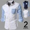 2016 new winter clothing big knit shirt collar shirt men's casual fashion color black beige fashion show M-XXL