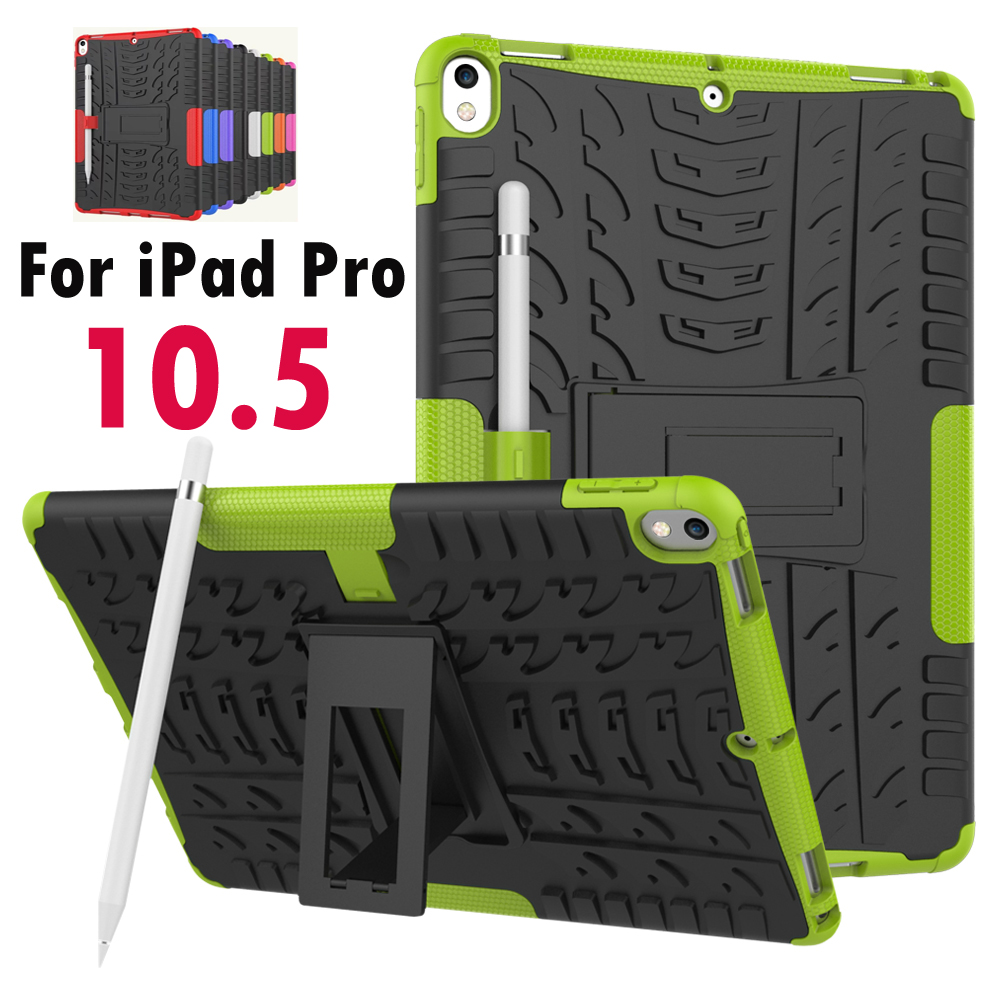 For Apple iPad Pro 10.5 inch 2017 Released Tough Impact Case Heavy Duty Armor Hybrid Anti-knock Silicon Hard Back Cover case for apple ipad pro plus 12 9 tablet heavy duty rugged impact hybrid case kickstand protective cover for ipad pro 12 9