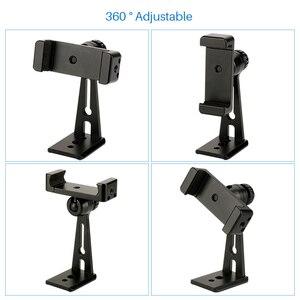 Image 4 - Có thể điều chỉnh Tripod Núi Adapter Dọc 360 Xoay Điện Thoại Clipper Chủ Đứng cho iPhone Samsung Huawei Xiaomi Điện Thoại Di Động
