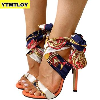 Ribbon Summer Luxury High Heels New Women Pumps Comfort Shoes Sandals Sexy Party Female Peep  1