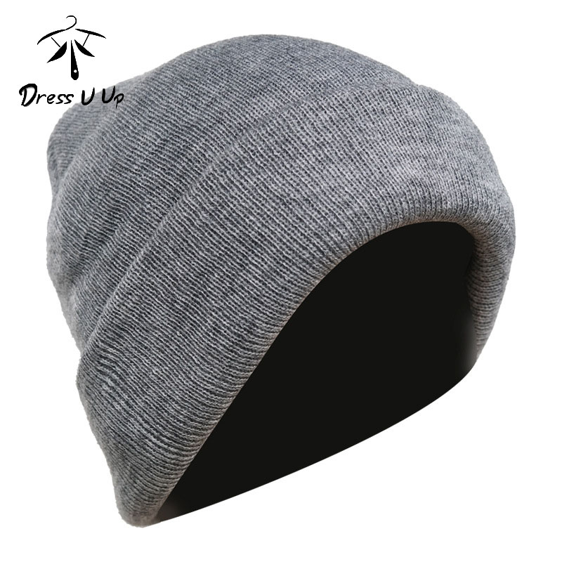 DRESSUUP Thick Autumn And Winter Men's Knit Hat Windproof And Cold-proof Ear Protection Mens Beanie For Ladies