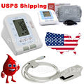 CONTEC Electronic Digital Arm Blood Pressure Monitor 08C + SPO2 Probe, Heart Beat Meter, Sphygmomanometer with Oximeter Probe