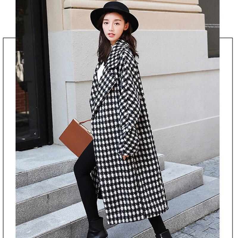 c35c350e8c7 Estilo A De Elegante Coreano Lana Abrigo Ropa Cuadros Mujer 2018 Moda  Invierno Abrigos Floja Vintage wHAxPXqP