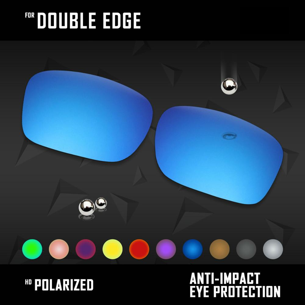 OOWLIT Lenses Replacements For Oakley Double Edge Sunglasses Polarized - Multi Colors