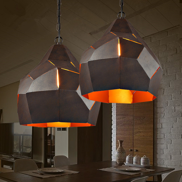 Loft Iron pendant lamp Restaurant Cafe Bar Retro Industry Creative Personality Hot Pot Shop pendant light e27 max40w 220v indoor