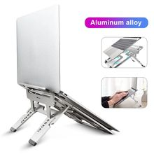 COOLCOLD Folding Aluminum Notebook Laptop Anti-slip Cooling Pad Stand Holder for Apple MacBook Mac Book Lenovo Samsung Computer