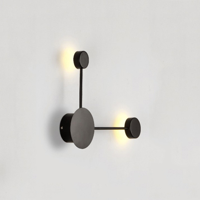 2018 creative nordic art wall light LED modern living room background lamp hotel aisle lighting fixtures Black White