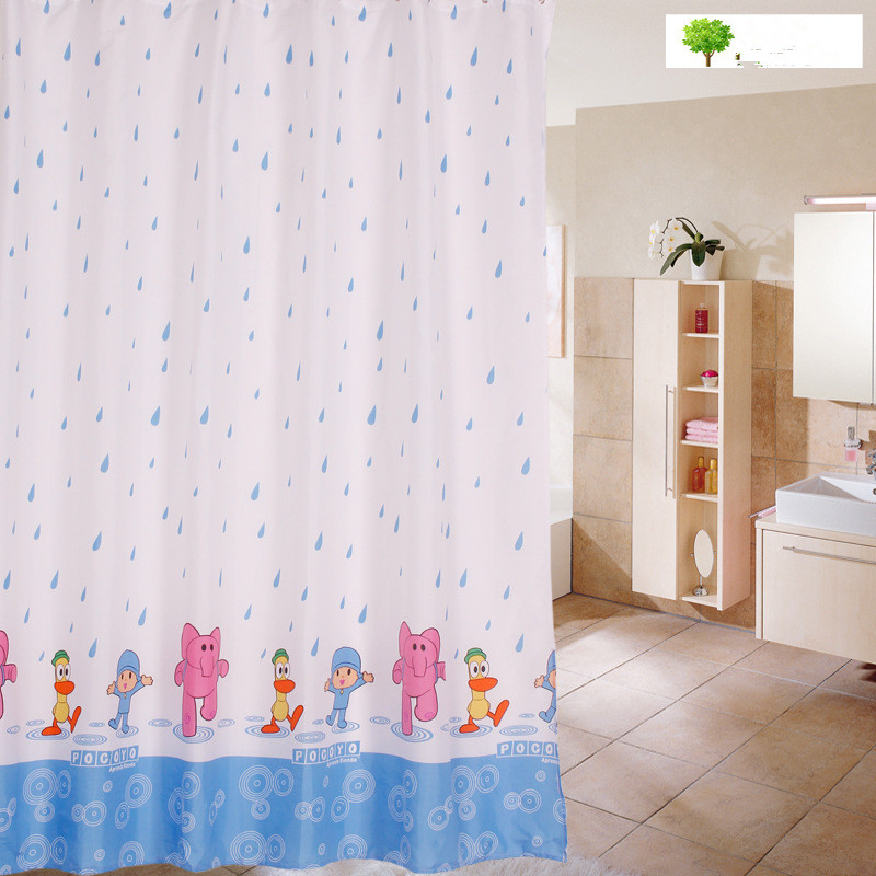 Cartoon badkamer douchegordijn spot verdikking polyester doek - Huishouden
