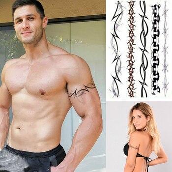 BARBED WIRE TEMPORARY TATTOOS SET, MENS, WOMENS, KIDS, TRIBAL TATTOO TRANSFER  X1 warrior angel wings cross temporary tattoo set of 1 crucifix body art mens womens