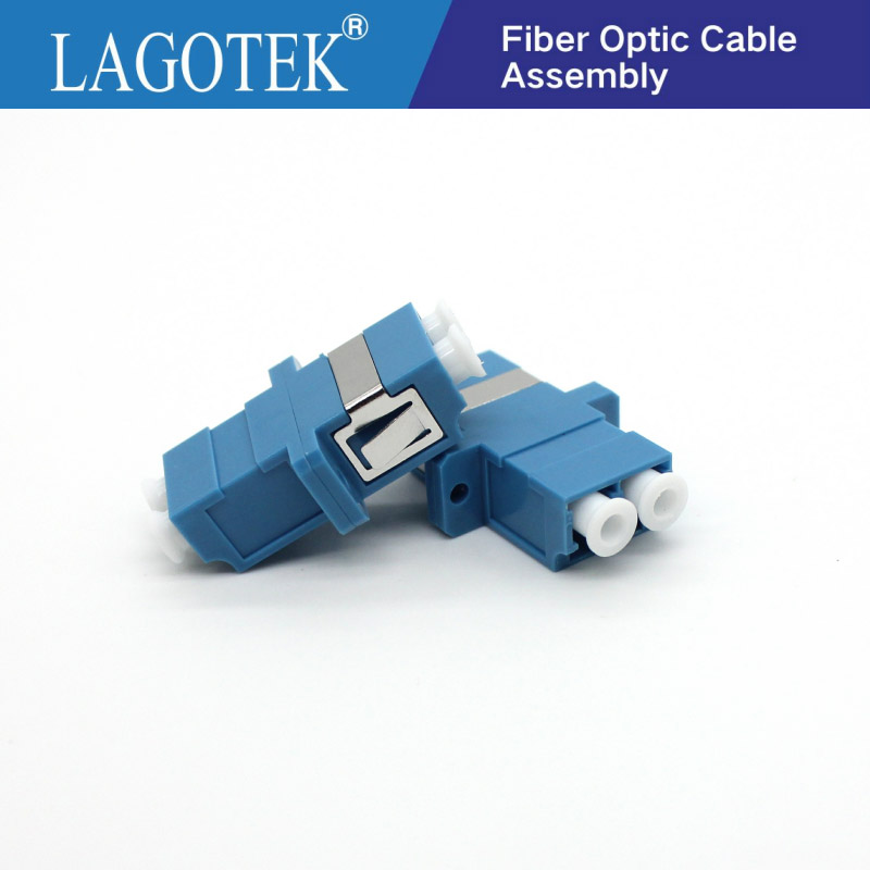 25/50/100/200Pcs LC UPC Duplex Single-mode Fiber Optic Adapter LC Optical Fiber Coupler LC UPC Fiber Flange LC Connector